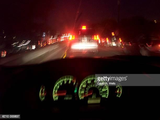Dashboard Lights at Night