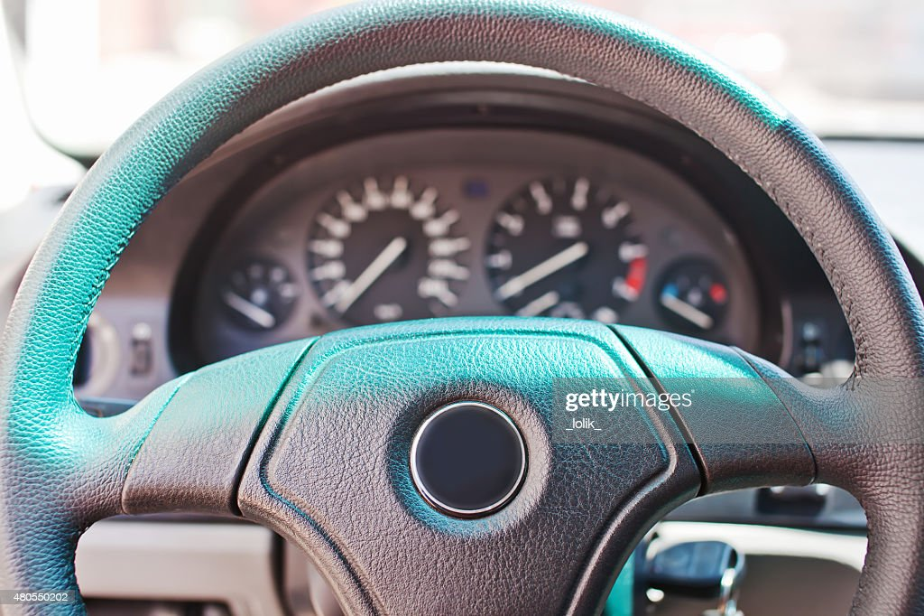 Dashboard of old german car : Stock Photo