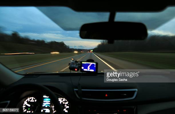 dashboard view of a moving vehicle - dashboard camera point of view stock photos and pictures