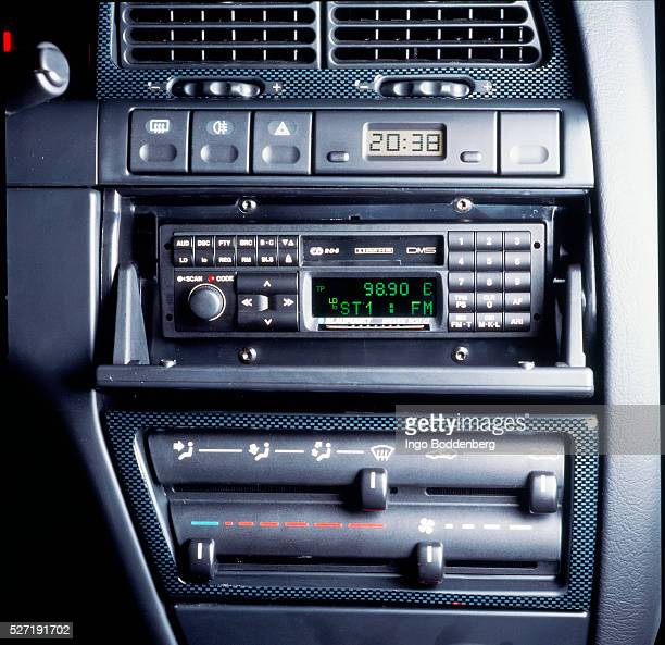 Dashboard with car radio