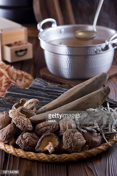 Dashi and Ingredients of Dashi