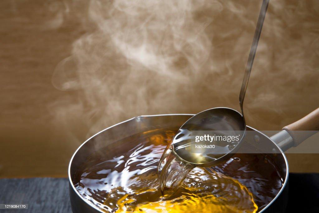 Dashi soup : Stock Photo
