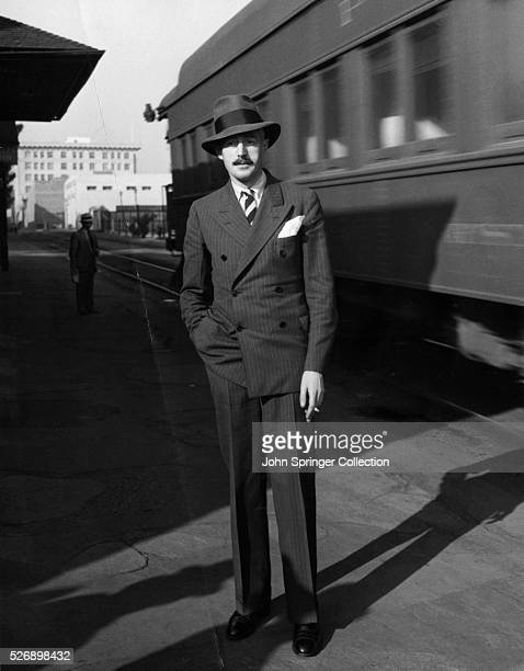 Dashiell Hammett author of The Thin Man standing at train station in Hollywood He has arrived to write the sequel to the film