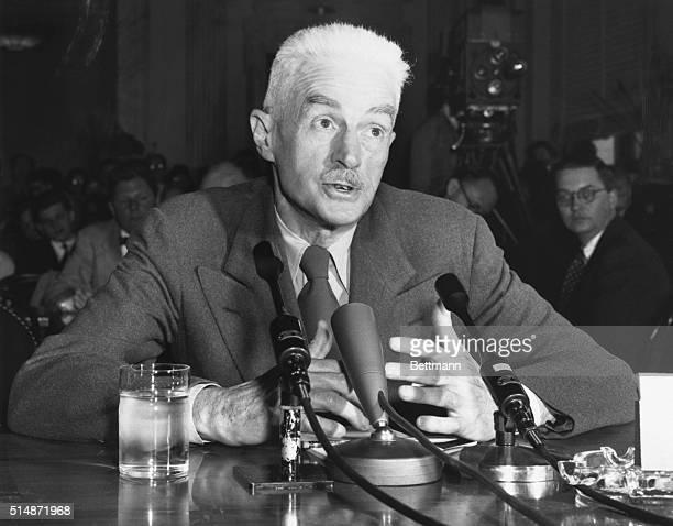 Dashiell Hammett Speaking Before Senate Committee