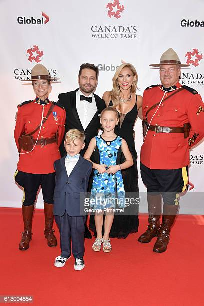 Dashiell Priestley Jason Priestley Naomi Priestley and Ava Priestley attend the 2016 Canada's Walk Of Fame Awards at Allstream Centre on October 6...