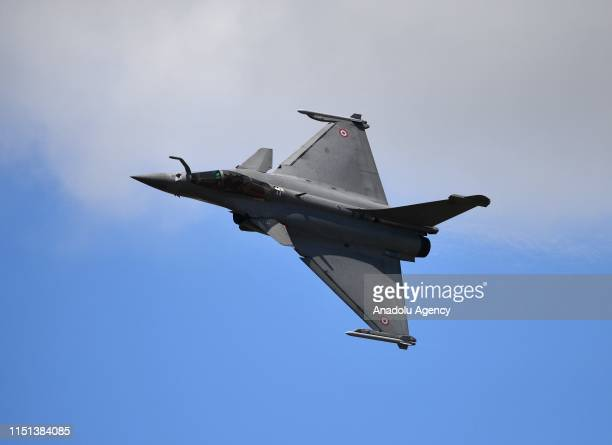 Dassault Rafale fighter performs during the 53rd International Paris Air Show at Le Bourget Airport near Paris France on June 22 2019