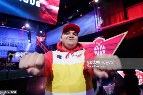 Dat Boy Shotz of Hawks Talon Gaming Crew poses for a photo after the game against Warriors Gaming Squad during Week 7 of the NBA 2K League regular...