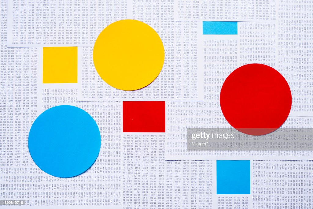 Data and Graph, Red Blue Yellow Abstract : Stock Photo
