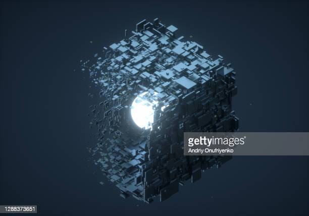 data cube transition - ball stock pictures, royalty-free photos & images