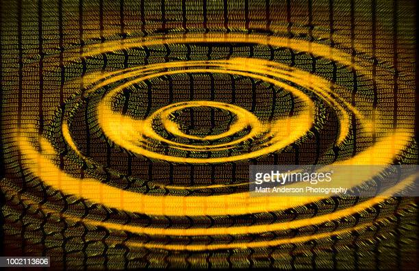 101010 data lines ripple in gold - electoral college stock pictures, royalty-free photos & images