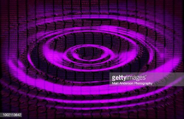 101010 data lines ripple in purple - sede da kgb imagens e fotografias de stock