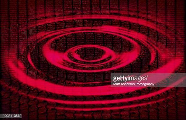 101010 data lines ripple in red - sede da kgb imagens e fotografias de stock
