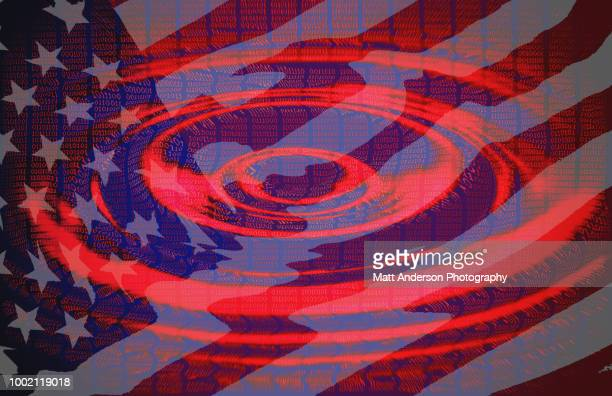 101010 data lines ripple with us flag version 2 - electoral college stock pictures, royalty-free photos & images