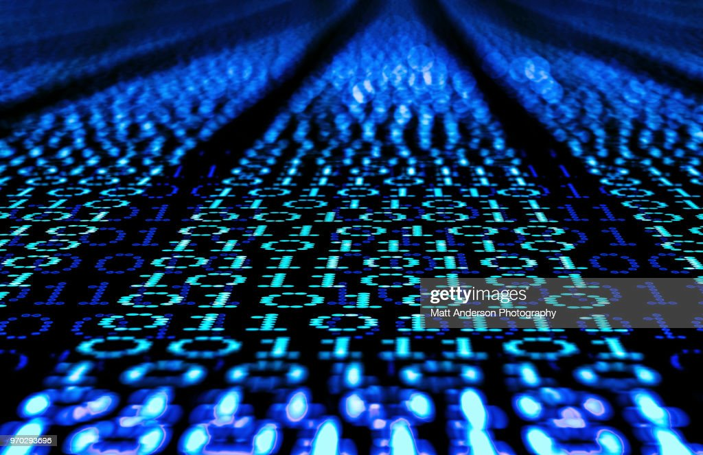 101010 Data Lines to Infinity : Stock Photo