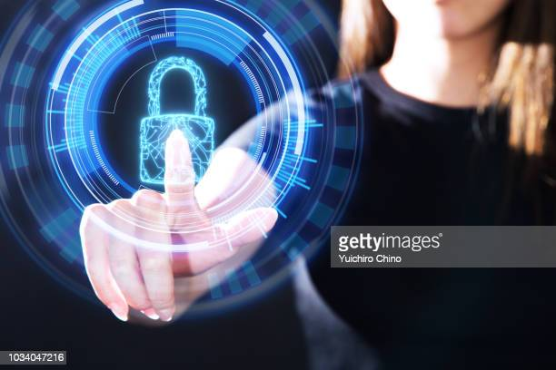 data protection concept with circuit in padlock shape - permission concept stock pictures, royalty-free photos & images