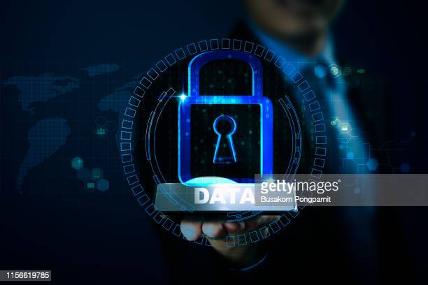data protection privacy concept. cyber security network - identity theft stock pictures, royalty-free photos & images