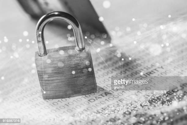 data security concept image - data privacy imagens e fotografias de stock