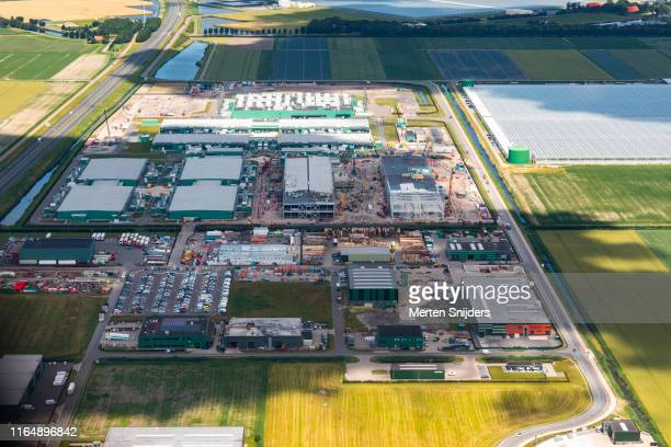 datacentres and industrial complexes at agriport medemblik - merten snijders stock pictures, royalty-free photos & images