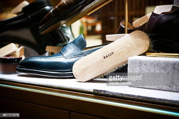 Datails of Bally presentation during the Milan Menswear Fashion Week/Fall Winter 2015/2016 on January 18 2015 in Milan Italy