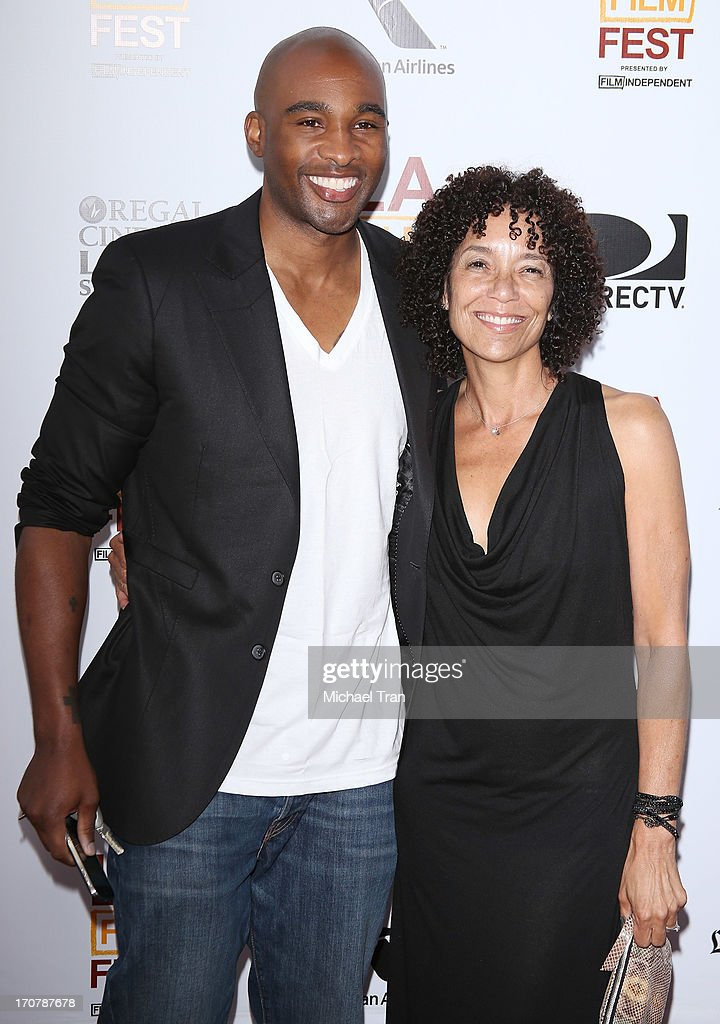 Datari Turner (L) and Los Angeles Film Festival director Stephanie Allain arrive at the 2013 Los Angeles Film Festival 'Fruitvale Station' premiere held at Regal Cinemas L.A. LIVE Stadium 14 on June 17, 2013 in Los Angeles, California.