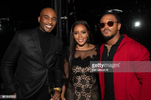 Datari Turner Angela Simmons and Romeo Miller attend the afterparty for the Premiere of WEtv's Growing Up Hip Hop Season 4 on May 22 2018 in West...