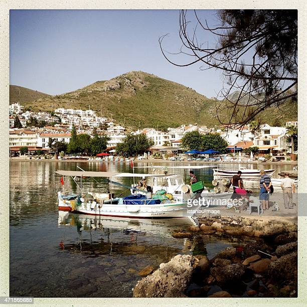 datca port in mugla - mugla province stock pictures, royalty-free photos & images
