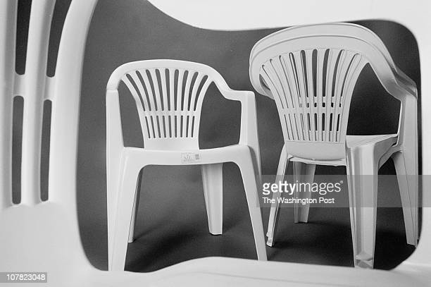 Kevin Clark/TWP Durable inexpensive and stackable the plastic patio chairs have risen to prominence since its debut in the 1980's Neg # 108176 City...