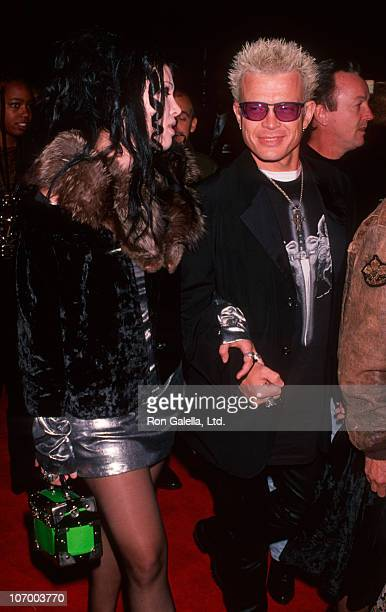 date and Billy Idol during 'The Professional' Beverly Hills Premiere Red Carpet at Academy Theater in Beverly Hills California United States