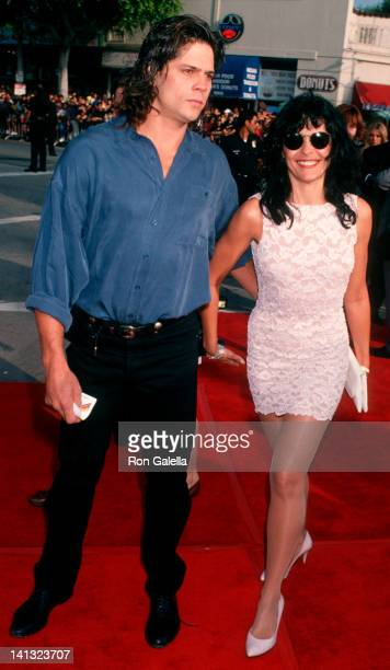 date and Maria Conchita Alonso at the World Premiere of 'Last Action Hero' Mann Village Theater Westwood