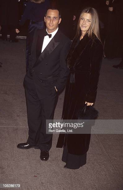 Date and Sandra Bullock during Costume Institute Gala's Gianni Versace Exhibit at Metropolitan Museum of Art in New York City New York United States