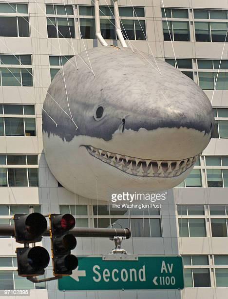 July 18 2006 Slug pshark assignment Photographer Gerald Martineau Downtown Silver Spring MD Big shark edifice on building We photograph various...