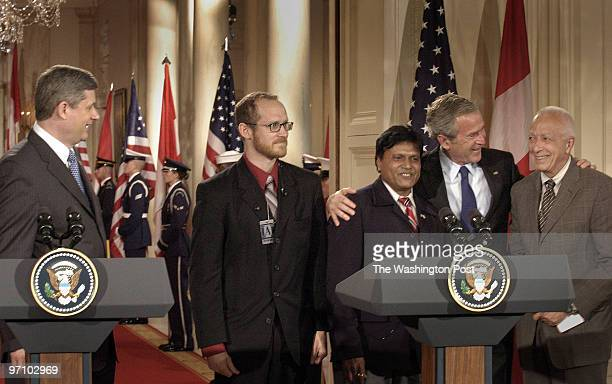 July 6 2006 Slug pbush assignment Photographer Gerald Martineau East Room of the White House press conf with Canadian Prime Minister President George...