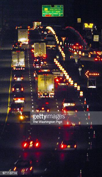 May 10, 2005 Slug: me-bridge Neg. #: 167948 Photographer: Gerald Martineau Beltway near Woodrow Wilson Bridge traffic disruption story w/bridge...
