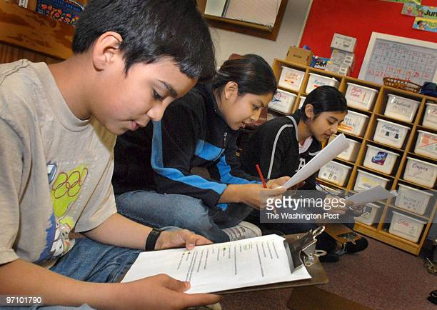 Oct 26 2006 Slug meesl assignment Photographer Gerald Martineau Bailey's Eementary School ESL classes Isael Ramos Argueta Nancy Eduardo De Paz...