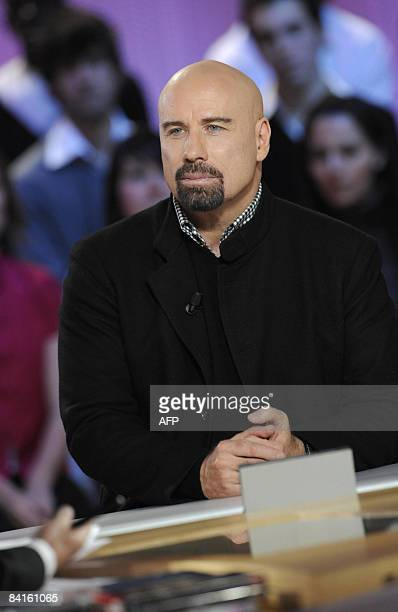 Dated December 19 2008 file photo shows US actor John Travolta took part in French TV channel Canal talk show Le Grand Journal in Paris Travolta's...