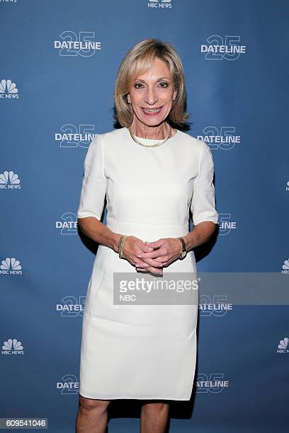 NBC Dateline 25th Anniversary Event Pictured NBC News Correspondent Andrea Mitchell