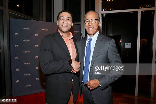 """Dateline 25th Anniversary Event -- Pictured: """"The Blacklist"""" actor Harry Lennix, NBC News Anchor Lester Holt --"""