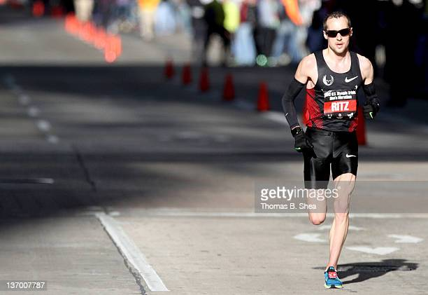 Dathan Ritzenhein competes in the US Marathon Olympic Trials January 14 2012 in Houston Texas