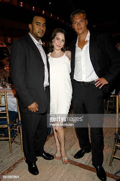 Datu Faison Carrie Lee Riggins and Thomas Aabo attend New York City Ballet Dance With the Dancers at New York State Theater on June 13 2005 in New...