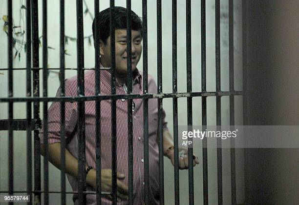 Datu Unsay Mayor Andal Ampatuan Jr the prime suspect in the November 23 massacre of 57 people in Maguindanao province is pictured inside his cell at...