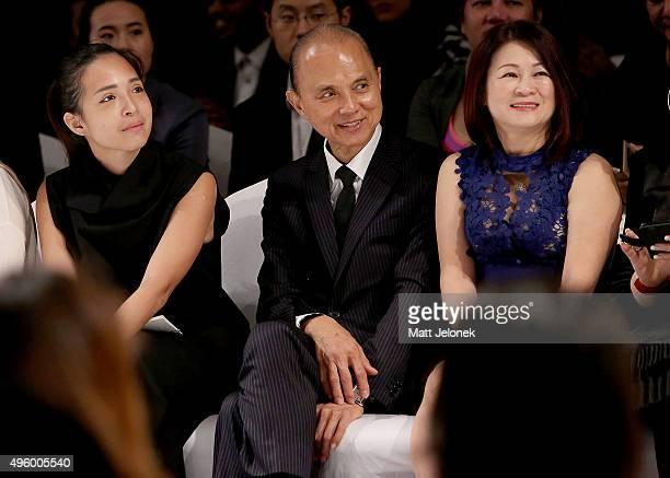 Datuk Professor Jimmy Choo watches on at the Illiza Ho show at Menara MATRADE during Malaysia Fashion Week on November 6 2015 in Kuala Lumpur Malaysia