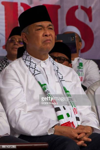 Datuk Seri Zahid Hamidi seen during the Solidarity protest Hundred of Malaysian people had gathered at Putrajaya Mosque to demonstrate against the...