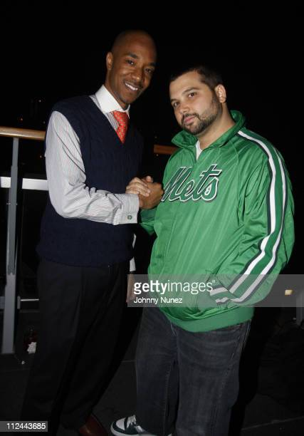 Datwon Thomas and DJ Soul attends The Hennessy Suite Spot May 8 2008 in New York NY
