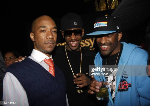 Datwon Thomas Fabolous and DJ Clue attends The Hennessy Suite Spot May 8 2008 in New York NY