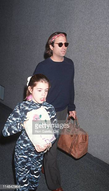 daughter and Andy Garcia during Andy Garcia sighting at Los Angeles International Airport February 12 1993 at Los Angeles International Airport in...