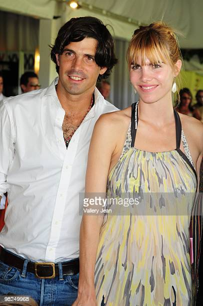 Daughter Aurora Figueras Ralph Lauren model and polo player Nacho Figueras and wife Delfina Blaquier attends match at Palm Beach International Polo...
