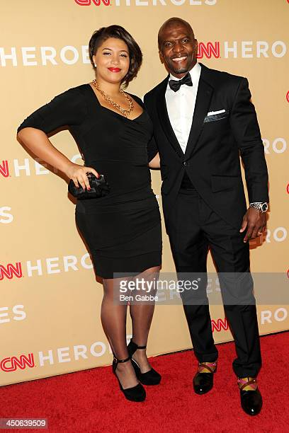 Daughter Azriel Crews and father/actor Terry Crews attend the 2013 CNN Heroes at the American Museum of Natural History on November 19 2013 in New...