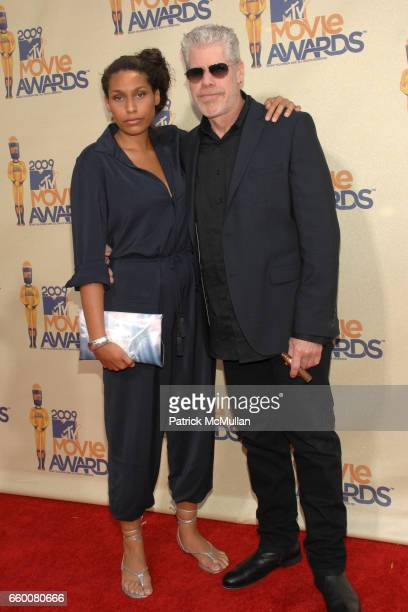 Daughter Blake Perlman with actor Ron Perlman attend 2009 MTV Movie Awards Arrivals at Gibson Amphitheatre on May 31 2009 in Universal City California