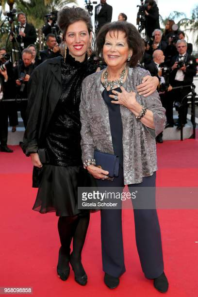 Daughter Claudia Squitieri and mother Claudia Cardinale attend the screening of Sink Or Swim during the 71st annual Cannes Film Festival at Palais...