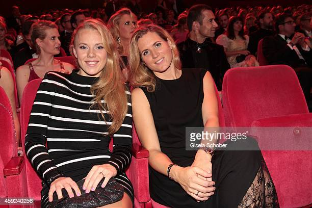 Daughter Emily Kerner and mother Britta Kerner during the Bambi Awards 2014 on November 13 2014 in Berlin Germany
